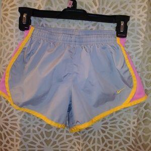 Nike Dri-Fit Grey + Neon Orange Running Shorts